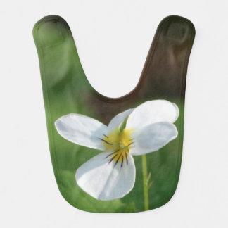 Lil White Flower Bib