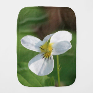 Lil White Flower Burp Cloth