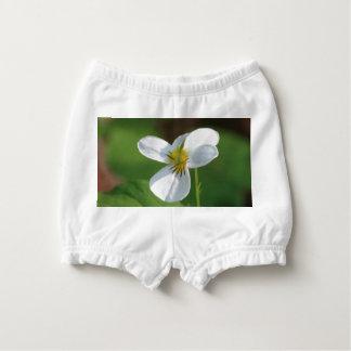 Lil White Flower Diaper Cover