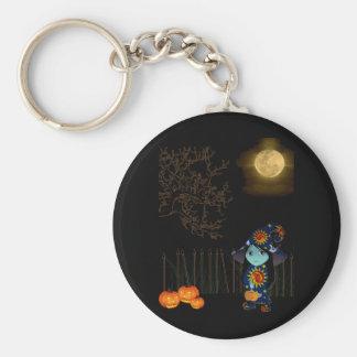 Lil' Witch in Celestial Gown Halloween Basic Round Button Keychain