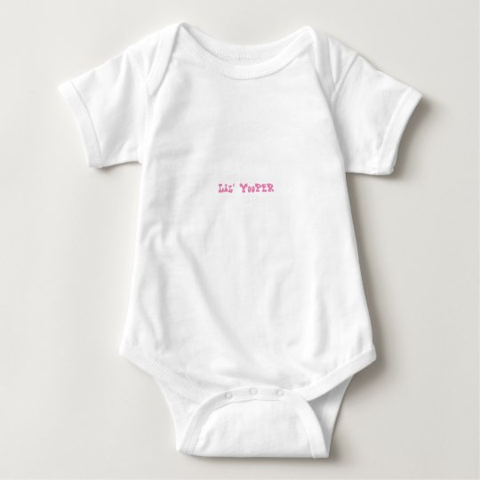 Lil' Yooper Michigan Baby Bodysuit PINK