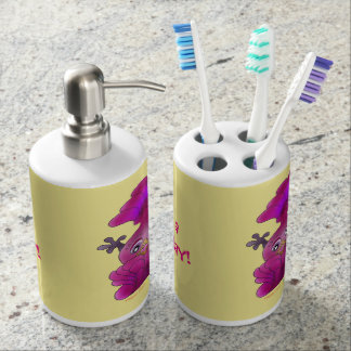 Lila by The Happy Juul Company Soap Dispenser And Toothbrush Holder