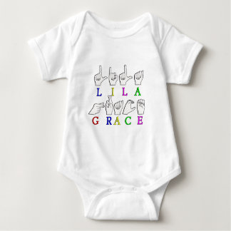 LILA GRACE FINGERSPELLED ASL SIGN NAME BABY BODYSUIT