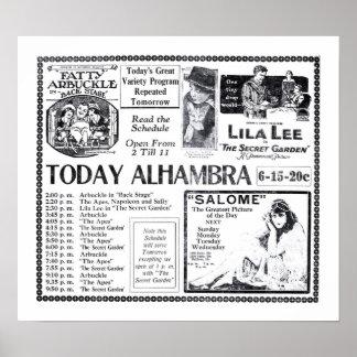 Lila Lee 1919 vintage movie ad poster