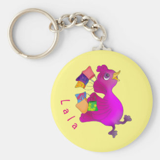 Lila loves Shopping by The Happy Juul Company Basic Round Button Keychain
