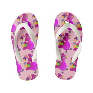 Lila loves Shopping by The Happy Juul Company Kid's Flip Flops