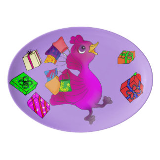 Lila Loves Shopping by The Happy Juul Company Porcelain Serving Platter