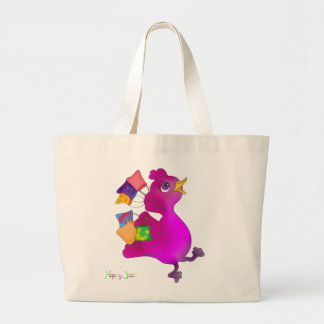 Lila loves Snowboarding by The Happy Juul Company Large Tote Bag