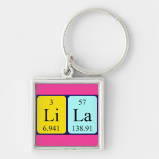 Lila periodic table name keyring