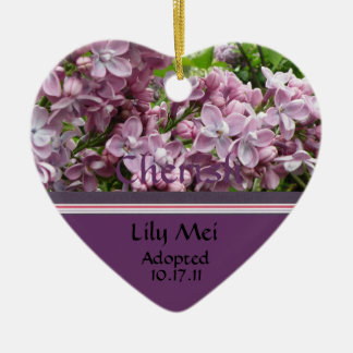 Lilac Adoption Announcement Ornament