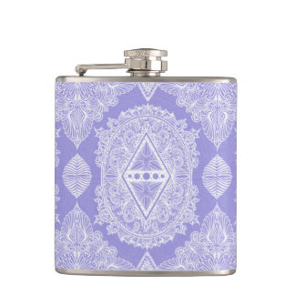 Lilac , Age of awakening, bohemian, newage Hip Flask