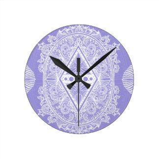 Lilac , Age of awakening, bohemian, newage Round Clock