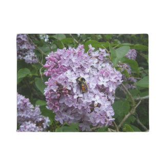 Lilac and Bee Doormat