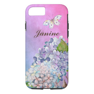 Lilac and Blue Hydrangea Blossom Summer Dream Case-Mate iPhone Case