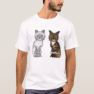 Lilac And Brown Tabby Cats T-Shirt