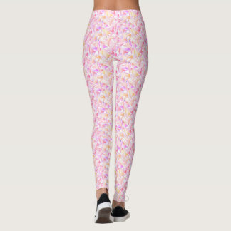 Lilac and gold school of fins leggings