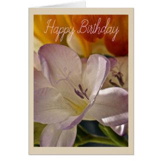 Lilac and Orange Birthday Card