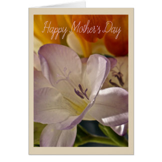 Lilac and Orange Mother's Day Card