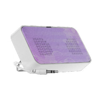 Lilac and white Flowers Notebook Speaker