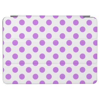 Lilac and white polka dots iPad air cover
