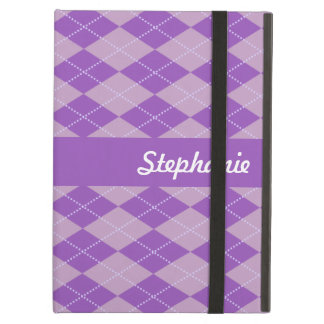 Lilac Argyle Pattern iPad Air Cover