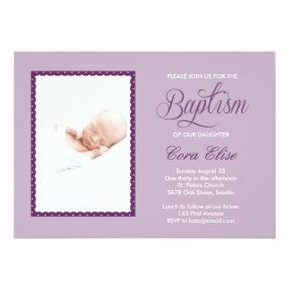 Lilac Baptism Invitation