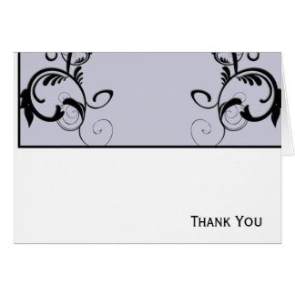 Lilac & Black Monogram Filigree Card
