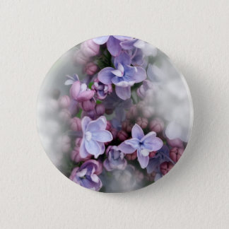 Lilac blooming 2 inch round button