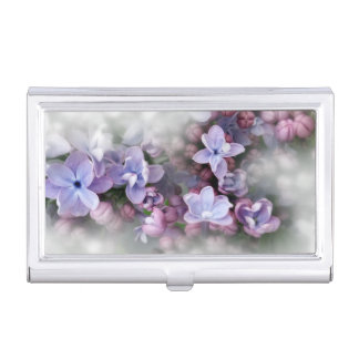 Lilac blooming business card holder