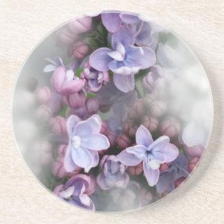 Lilac blooming coaster