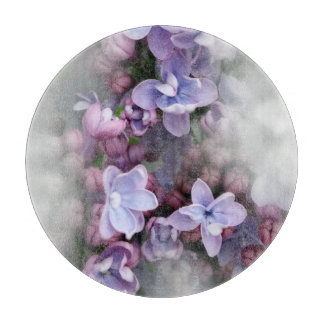 Lilac blooming cutting board