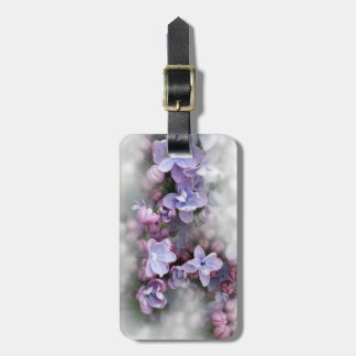 Lilac blooming luggage tag