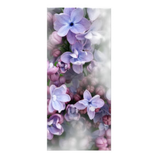 Lilac blooming rack card