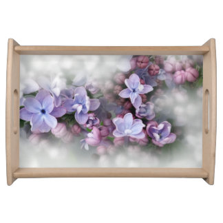 Lilac blooming serving tray