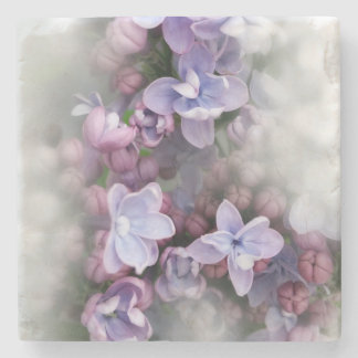 Lilac blooming stone coaster