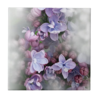 Lilac blooming tile