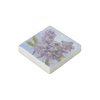 Lilac Blossom Stone Magnet Stone Magnets