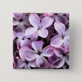 Lilac blossoms 2 inch square button