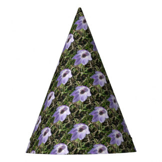 Lilac Blue Anemone Coronaria Wild Flower Party Hat