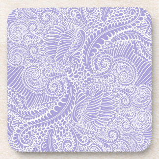 Lilac blue Floral twists Coaster