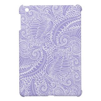 Lilac blue Floral twists iPad Mini Cases