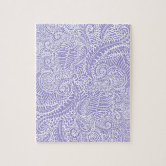 Lilac blue Floral twists Jigsaw Puzzle