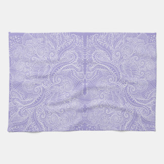 Lilac blue Floral twists Kitchen Towel
