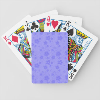 Lilac blue paper flowers bicycle playing cards