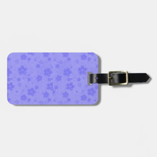 Lilac blue paper flowers luggage tag