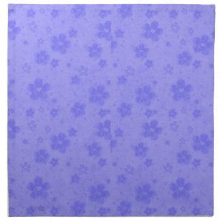 Lilac blue paper flowers napkin