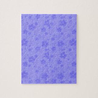 Lilac blue paper flowers puzzle