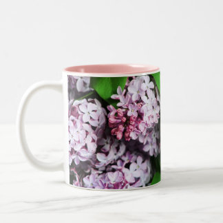 lilac bouquet Two-Tone coffee mug