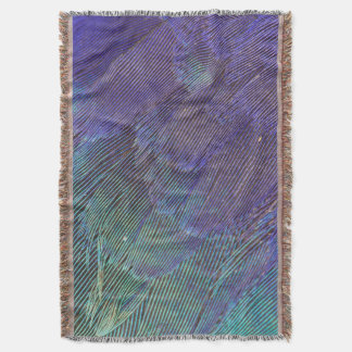 Lilac-breasted Roller feathers Throw Blanket
