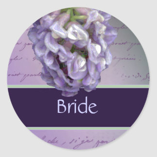 Lilac bridal stickers